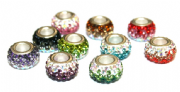 Rondelle Pave Crystal Beads